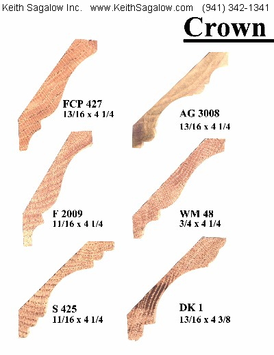 Sarasota carpenter for Crown molding size chart
